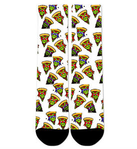 Custom Pizza TMNT Crew Socks NEW