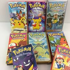Pokemon Lot of 8 VHS Nintendo Cartoons Movies Tapes Pikachu Johto Journeys