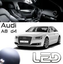 AUDI A8 D4 Pack 22 Ampoules LED blanc Plafonnier plancher portes Coffre miroirs