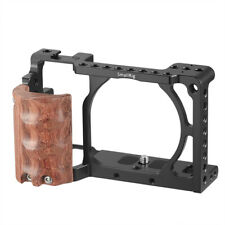 SmallRig Camera Cage Kit with Wooden Grip for Sony a6000/a6300/a6500