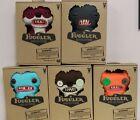 Fuggler Funny Monster Lot Of 5. Orange, Light Blue , Brown, Gray, Red, FREE SHP! For Sale