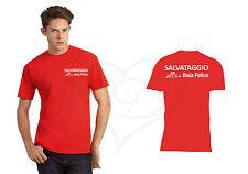 T-SHIRT SALVAGGIO BAGNINO LIFEGUARD PERSONALIZZABILE NOME LIDO UOMO SHIRT