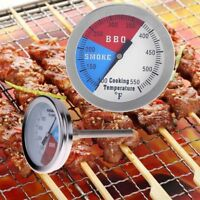 Outdoor BBQ Smoking Thermometer Temp Gauge Grill Smoker Pit Thermostat 100-550℉