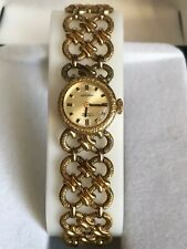 Vintage Bergana Gold Plaque ladies manual watch INCABLOC 17 Jewels, Working