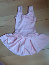 BABY PINK ROUCHED NECK LYCRA SKIRTED LEOTARD AGE 4-6 DANCE SHOW FESTIVAL  HB