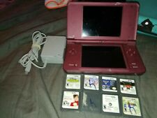 Nintendo DSi XL (Burgundy) Handheld Video Game Console with Stylus and Charger