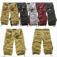 Hot Mens Cotton Hobo Men Relaxed Fit Cargo Shorts New Camo Pants Shorts Military