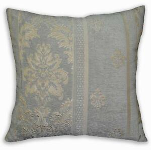 We202a Gray Tan Damask Flower Chenille Throw Pillow Case Cushion Cover*Size