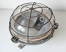 LAMPE APPLIQUE CAGE ESCALIER INDUSTRIELLE USINE  LOFT DESIGN VINTAGE 1950 60