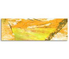 Leinwandbild Panorama orange gelb grün weiß Paul Sinus Abstrakt_759_150x50cm
