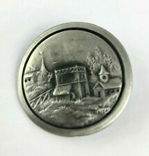 Large Battersea Pewter Button Featuring Churches
