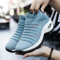Women's Sport Air Cushion Running Shoes Mesh Walking Slip-On Sneakers Breathable