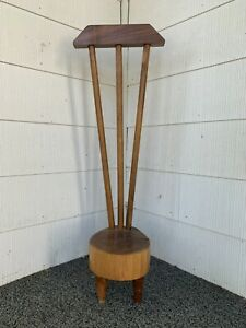 Vintage Mid Century Tree Trunk Wooden Primitive Men's Suit Valet
