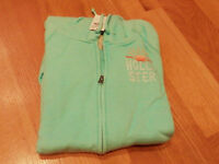 NWT HOLLISTER BETTY PACIFIC HOODIE BLUE LARGE BY ABERCROMBIE