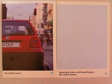Prospekt Volkswagen VW Golf III Ecomatic, 1.1994, 20 S. + Daten/Ausstattungen