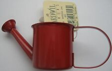 Miniature Red Metal Watering Can Made in Taiwan Small Fairy Garden Decor New