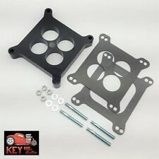 """1"""" Ported Center Phenolic Carburetor Spacer Chevy Ford Holley Carter Demon 350"""
