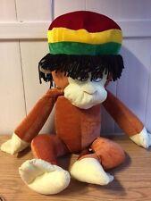 "HUGE Rasta Monkey Stuffed Plush Animal ~ 33"" ~ Adorable! 22"" sitting"
