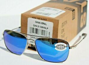 COSTA DEL MAR Canaveral POLARIZED Sunglasses Palladium/Blue Mirror 580G NEW