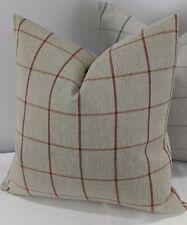 John Lewis & Partners Classic Check Fabric, Auburn Handmade Cushion Cover