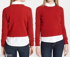 NWT $248 Marc by Marc Jacobs Iris Merino Wool Crewneck Sweater Size S