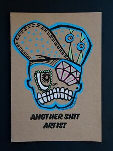 Another S..T Artist Original Graffiti Print Street Art Painting MsDre A5