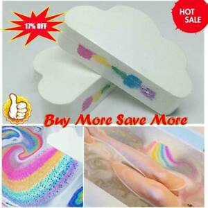 Natural Cloud Rainbow Bath Salt-Ball Essential Oil Effervescent Bubble Bath-Bomb