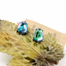 Designer Opal + Brand Mist Silver Blue Earrings Stud Earrings Antique Radiant