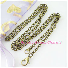 2Strands Necklaces Ring Chain With Lobster Clasps Gold Silver Bronze Plated 50cm