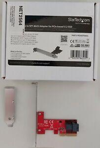 StarTech.com x4 PCI Express to SFF-8643 Adaptor for PCIe NVMe U.2 SSD