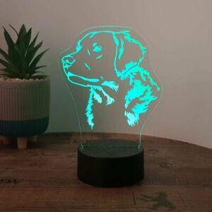 LED Lampe Hund - Golden Retriever