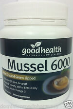 Good Health New Zealand Green Lipped Mussel 6000mg 300 Capsules DRP