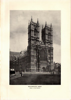 1903 Antique Art Photo Print Westminster Abbey Dodd Mead Co. 10X6""