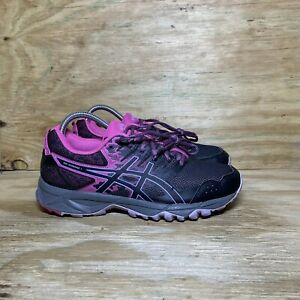 ASICS Gel-Sonoma 3 Trail Running Shoes Womens Size 8.5 Black Pink Gray T774N