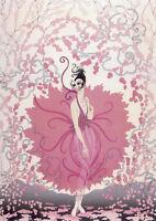 Pink Lady 22x30 Art Deco Print by Erte