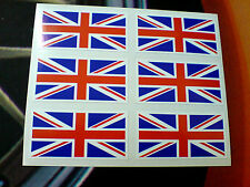 Union Jack Flag Set De 6 Uk Gb Casco Para Bicicleta Coche Bumper Stickers Calcomanías De 50 Mm
