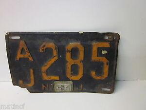 """Vintage 1956 License Plate.....AJ 285...N56J"""""""