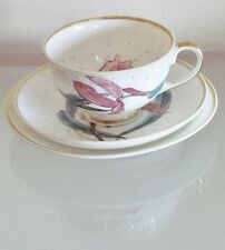 SUSIE COOPER orchid TRIO=~~!!RARE!!~~=Footed Tea Cup=FLOWER=MAGNIFICENT!!!!!