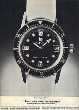 PUBLICITE 1968   LIP  montre nautic lady