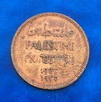 Israel Palestine British Mandate 1 Mil 1935 Coin Key Date