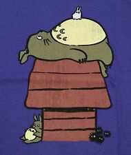 """My Neighbor Peanut"" Totoro Snoopy Mashup Men's Medium Shirt Teefury"