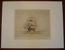 Vintage GORDON HOPE GRANT LE Lithograph STUNSAILS OUT #67/100 Pencil Signed