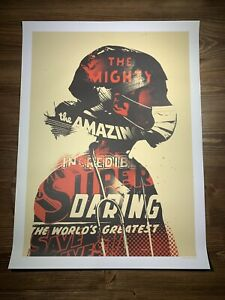 """""""Masked Crusader Art Print Offset Poster By Tes One Graffiti Urban Obey Giant"""