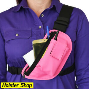 Radio Holster Pack - Left - Pink - Enclosed - Two Ants Trap Jaw CT200SLPK