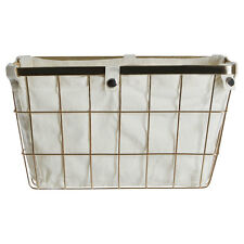 Laundry Storage Basket Rectangle Gold Plated Polyester Mix Caddies Household 1901699