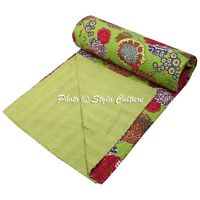 Home Decorative Cotton Bedding Covers Bedspread Kantha Indian Quilt Throw