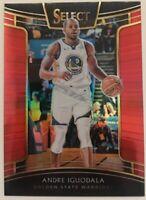 2018-19 Panini Select Andre Iguodala #24 RED PRIZM #/199 SP NBA Card GS Warriors