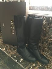 Gucci knee high boots black size 38