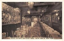 NEW YORK NY JIMMIE DWYER'S SAW DUST TRAIL RESTAURANT 156 W 44th STREET POSTCARD