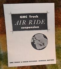 VTG 1950s Advertising GMC Truck Air Ride Suspension PROTOTYPE Brochure N